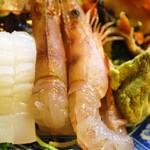 味処 とっくり - 活き海老のお刺身