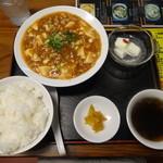 中華そば 漢風 - マアーボウ豆腐のセット(日替わり)