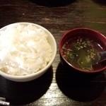 32211929 - ランチAセットのご飯とスープ