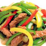 牛肉とピーマンの細切炒め(チンジャオロース)