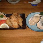 小粋 - カキフライと牡蠣グラタン