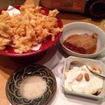 32224510 - 沖縄料理とあぐー豚しゃぶしゃぶ鍋食べ放題(¥1,680) もちもちじーまみ豆腐、自家製ラフテー、ミミガーの唐揚げ