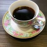 魚もん屋 - 上お造り定食のコーヒー
