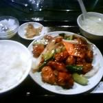 中国酒菜 好来 - ランチの黒酢スブタ(780円)です