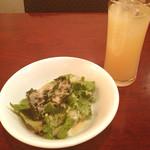 ハモン&ヴォーノ - サラダ/グレープフルーツジュース