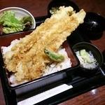はなの舞 - 料理写真:2014.11ランチ、穴子天丼(600円)