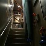 えびす家 - 化粧室は2階となります。サーフボードの関係で少し狭くなっております。
