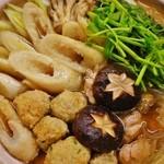 酒彩 羽々和 - 【冬季限定】きりたんぽ鍋