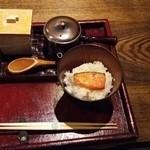 32239429 - 夜食の鮭茶漬け