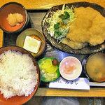 味処 みよし - 和風おろしカツ定食(3ケ)ご飯大盛り