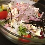 花より魚 - 富山名物カニとゴマのサラダ!