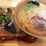 味噌乃家 - 味噌ラーメンとミニ飯セット(830円)