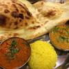 スパイシーインディア - 料理写真:ランチセット 野菜カレーとキーマカレー