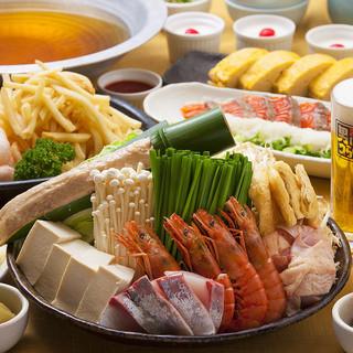 飲み放題付海鮮ちゃんこ鍋コース3980円