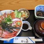 かね正 - 海鮮丼1400円