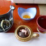 32286167 - 生血・肝の酢和え・エンペラの湯引・卵