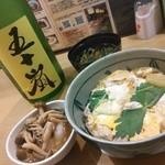 なか屋 - 日本酒「五十嵐」と親子丼としめじおろし^^