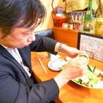 旬膳 よしふさ - アボガドのサラダ(u_u)v酒の肴になるサラダですw