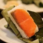 柿の葉ずし 平宗 - 柿の葉寿司 シャケ