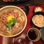 杵屋 - 肉うどん定食の大盛 981円 税別