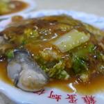 圓環邊蚵仔煎 - 蚵仔煎(牡蠣お好み焼き/オアジェンNTD65 ※2016時点TWD70)