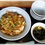 喜楽食堂 - 中華丼 670円 2014.11.2