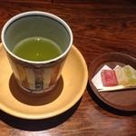 山荘無量塔 - お着きのお菓子とお茶