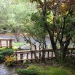 山荘無量塔 - 玄関から外の風景