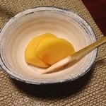 山荘無量塔 - デザートの柿