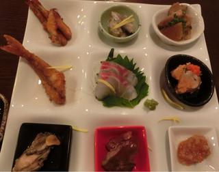 和食酒場 煮っこり - 本日のナインプレート(2014.11.5.)1,200円。
