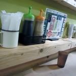 ロヂウラ食堂 - 空席があるといっても人気店なんで空いてるのはカウンター、早速座らせていただいて食事です。
