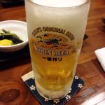 おやじの台所 - ギンギンに冷えたおビール