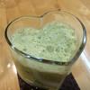 ハイソサエティー - ドリンク写真:緑のジュース 小松菜とバナナ♪
