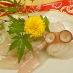 おもてなし きこう - 料理写真:穴子と生蛸のお造り