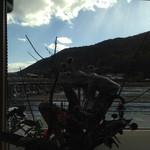 Cafe花しるべ - 目の前を通る人力車