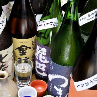 こだわりの日本酒が数十種類も。