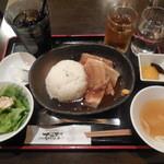 琉球・梅酒ダイニング てぃーだ - ラフテー丼セット 500