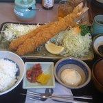 こだわりとんかつかつ平袋井店 - じゃんぼ海老フライ定食