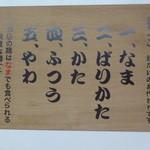 ばりこて 高田馬場店 - 麺のかたさ/2014年11月来店