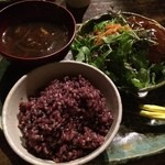 野菜居酒屋 玄気 - 玄気玄米ランチAセット(アボガド牛タンメンチカツ)