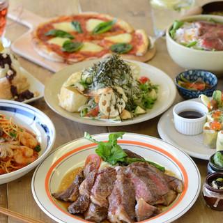 kawaraコースは5品、7品、9品からお選び頂けます。