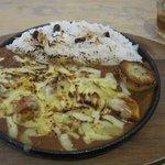デリアンドカフェ・ヤマグチ - チキンカリー・辛口+焼きチーズ(H22.2)