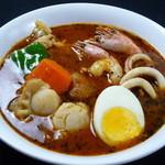 カレー食堂 心 - シーフードのスープカレー
