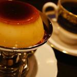 御多福珈琲 - プリンとブレンドコーヒー