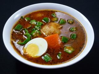 カレー食堂 心 - 納豆&オクラのスープカレー