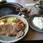 レストラン ゆうき - ヤングステーキセット:メイン+ライス
