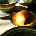 レストラン ゆうき - サービス品:デザート(柿)