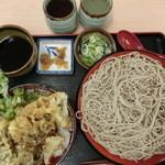 味奈登庵 - 2014' 11/6 舞茸天丼セット500円