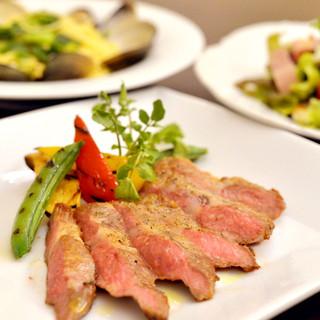 信州食材を使用したお料理の数々