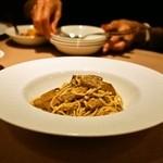 イルバンボリーノ - 2014.11 ポルチーニ茸のソース、パルミジャーノ風味 自家製タリオリーニ(1,500円)
